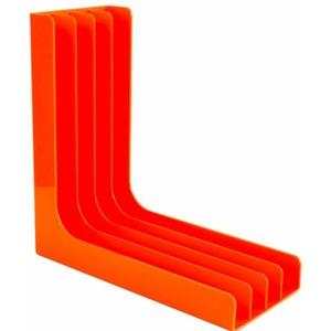 Подставка для пластинок угловая оранжевая (пластик) Record Pro GK-R54O