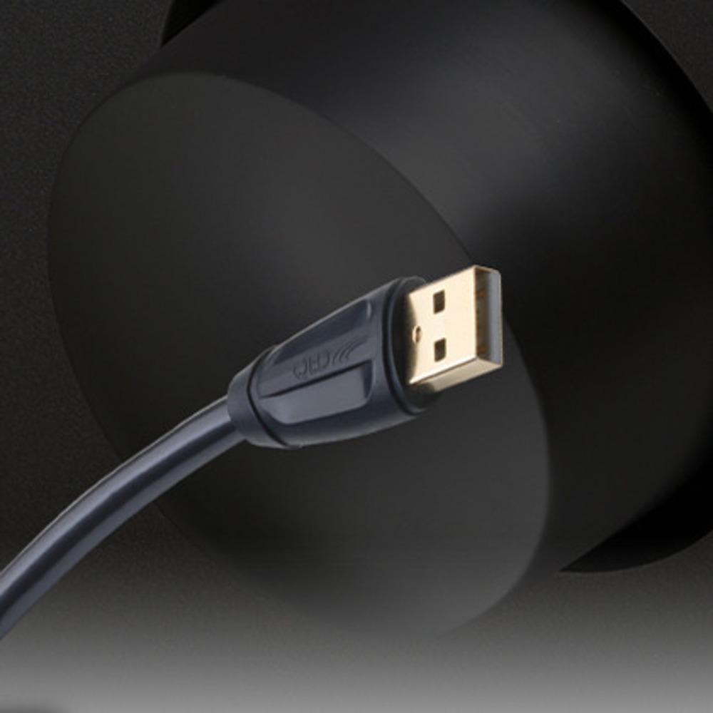 Кабель USB 2.0 Тип A - B QED (QE6902) Performance USB (A-B) Graphite 2.0m