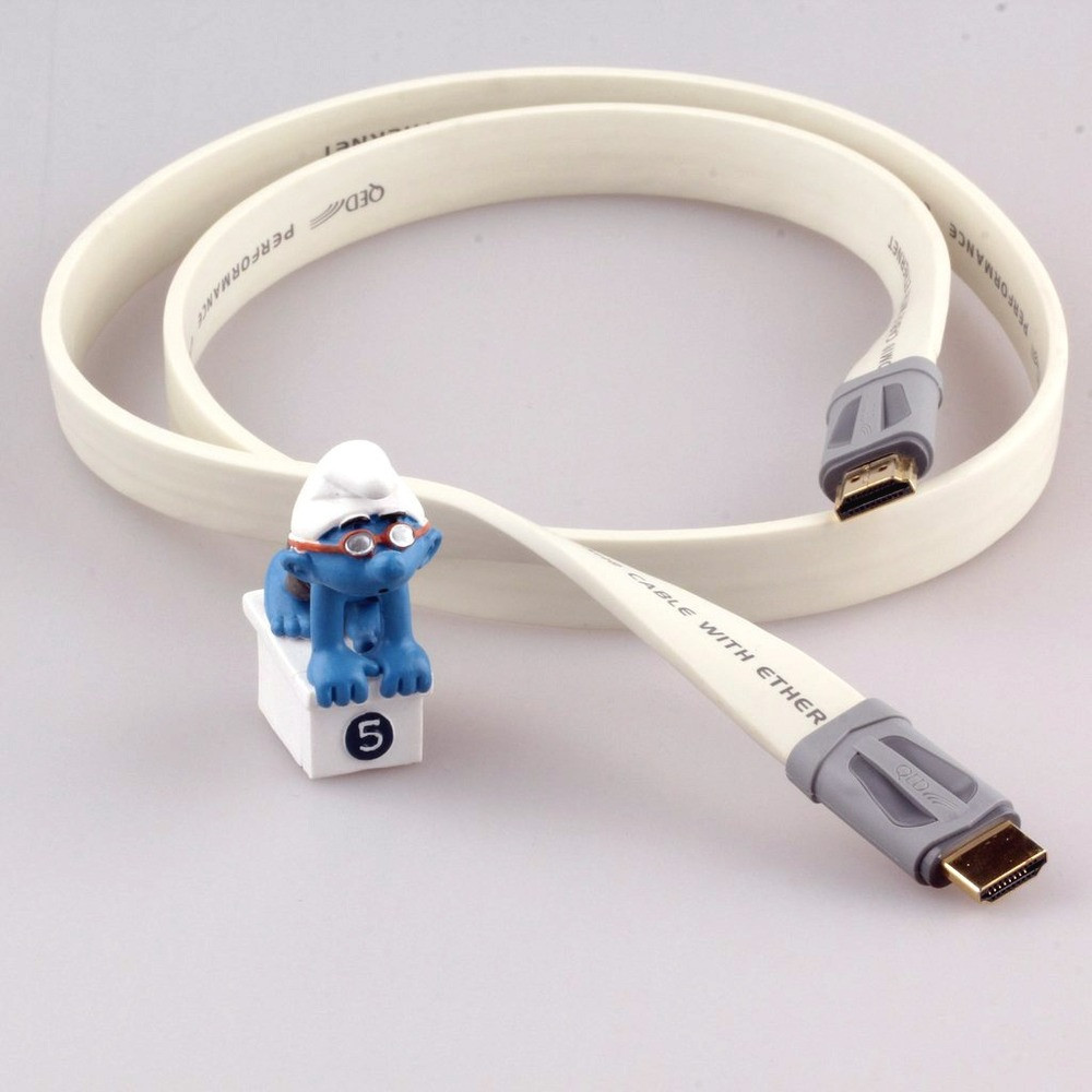 Кабель HDMI - HDMI QED (QE7400) Performance e-Flex HDMI White 1.0m