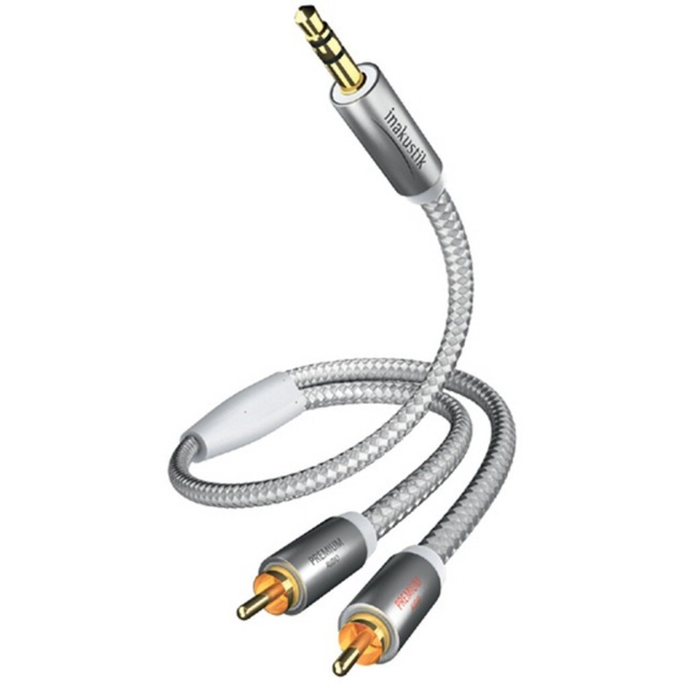 Кабель аудио 1xMini Jack - 2xRCA Inakustik 004100015 Premium MP3 Audio 1.5m