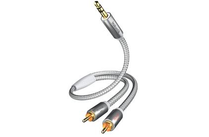 Кабель аудио 1xMini Jack - 2xRCA Inakustik 00410005 Premium MP3 Audio 5.0m