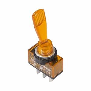 Тумблер Rexant 36-4372 12V 20А (3c) ON-OFF однополюсный  с желтой подсветкой, 10шт