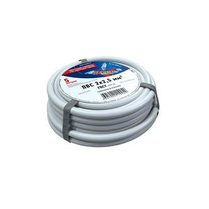 Провод электрический Rexant 01-8036-5 Провод соединительный ПВС 2x2,5 мм, длина 5 метров, ГОСТ 7399-97