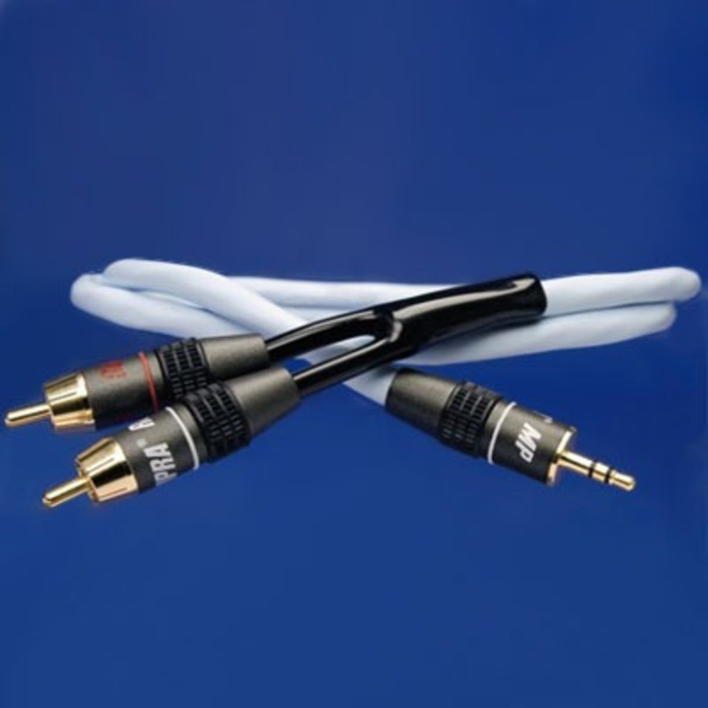 Кабель аудио 1xMini Jack - 2xRCA Supra BiLine-MP 1.0m