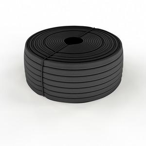 Трубка кембрик Rexant 49-5008-1 ТВ-40 ПВХ черный, 8 мм (бухта 200м)