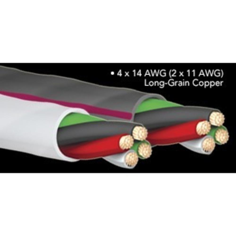 Кабель акустический Bi-Wire Audioquest SLiP-14/4 Grey