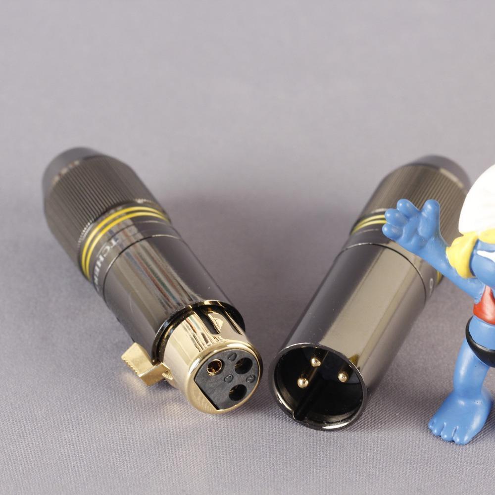 Разъем XLR (Комплект) Tchernov Cable XLR Plug Reference G Yellow (2 штуки)