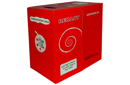 Кабель витая пара Cat.5e 4 пары без экрана Rexant 01-0344 SFTP 4PR 24AWG CAT5e OUTDOOR (1 метр)