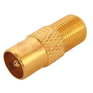 Разъем антенный Папа Rexant 05-4303-1 Female F - Male TV GOLD (1 штука)