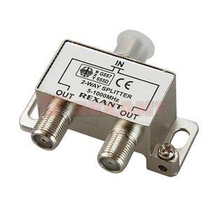 Антенный разветвитель Rexant 05-6001 ДЕЛИТЕЛЬ ТВ Краб х 2 под F разъём 5-1000 МГц (1 штука)