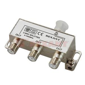 Антенный разветвитель Rexant 05-6002 ДЕЛИТЕЛЬ ТВ Краб х 3 под F разъём 5-1000 МГц (1 штука)