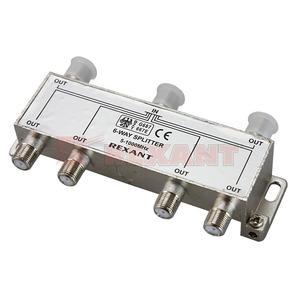 Антенный разветвитель Rexant 05-6004 ДЕЛИТЕЛЬ ТВ Краб х 6 под F разъём 5-1000 МГц (1 штука)
