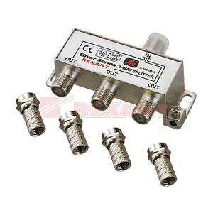 Антенный разветвитель Rexant 05-6102 ДЕЛИТЕЛЬ ТВ Краб х 3 + 4шт. F-BOX 5-1000 МГц Silver (1 штука)