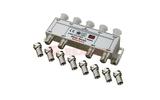 Антенный разветвитель Rexant 05-6105 ДЕЛИТЕЛЬ ТВ Краб х 8 + 9шт. F-BOX 5-1000 МГц Silver (1 штука)