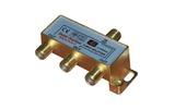 Антенный разветвитель Rexant 05-6102-1 ДЕЛИТЕЛЬ ТВ Краб х 3 + 4шт. F-BOX 5-1000 МГц Gold (1 штука)