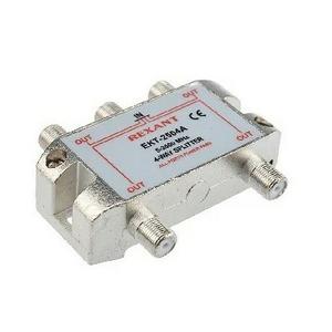 Антенный разветвитель Rexant 05-6203 ДЕЛИТЕЛЬ ТВ Краб х 4 под F разъём 5-2500 МГц СПУТНИК (1 штука)