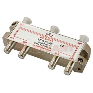 Антенный разветвитель Rexant 05-6204 ДЕЛИТЕЛЬ ТВ Краб х 6 под F разъём 5-2500 МГц СПУТНИК (1 штука)