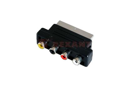 Переходник RCA - Scart Rexant 17-1061 Переходник SCART - 4xRCA (1 штука)
