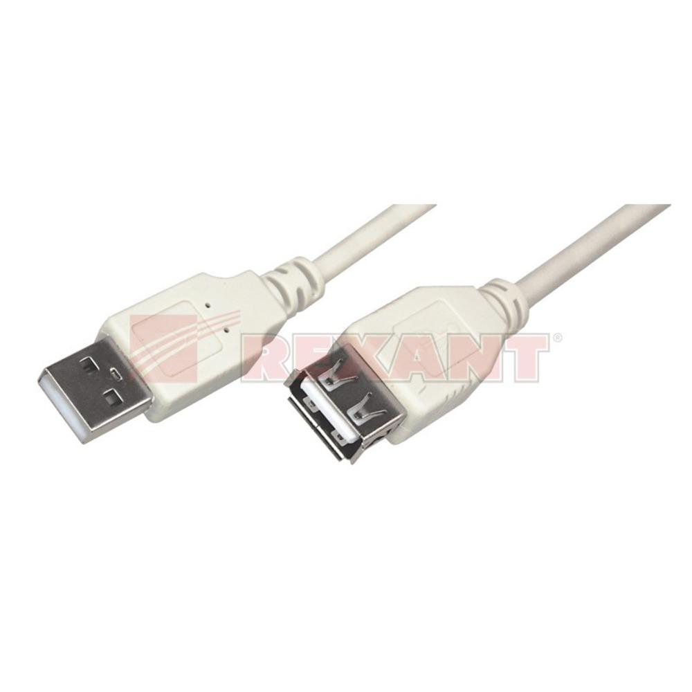 Удлинитель USB 2.0 Тип A - A Rexant 18-1114 USB (1 штука) 1.8m