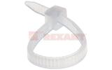 Хомут нейлоновый (кабельная стяжка) Rexant 07-0080 белый 2.5 х 80мм (100 штук)