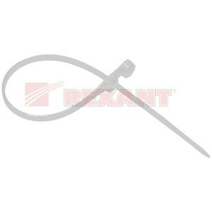 Хомут нейлоновый (кабельная стяжка) Rexant 07-0104 белый 2.5 х 100мм (100 штук)