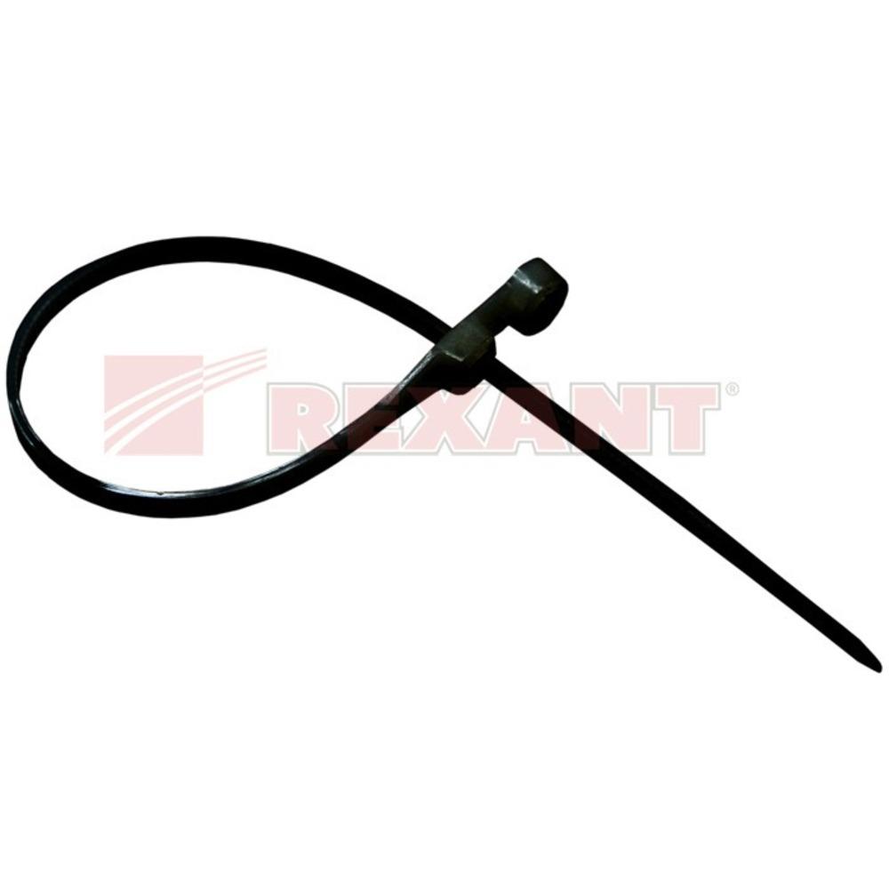 Хомут нейлоновый (кабельная стяжка) Rexant 07-0105 черный 2.5 х 100мм (100 штук)