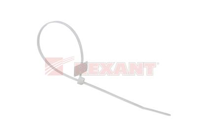 Хомут нейлоновый (кабельная стяжка) Rexant 07-0106 белый 100мм (100 штук)