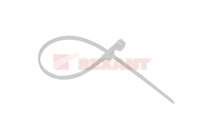 Хомут нейлоновый (кабельная стяжка) Rexant 07-0154 белый 3.6 х 150мм (100 штук)