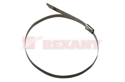 Хомут (кабельная стяжка) Rexant 07-0158 стальной 4.6 х 152мм (50 штук)