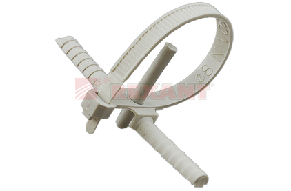 Хомут нейлоновый (кабельная стяжка) Rexant 07-0176 белый 150 х 8мм (50 штук)