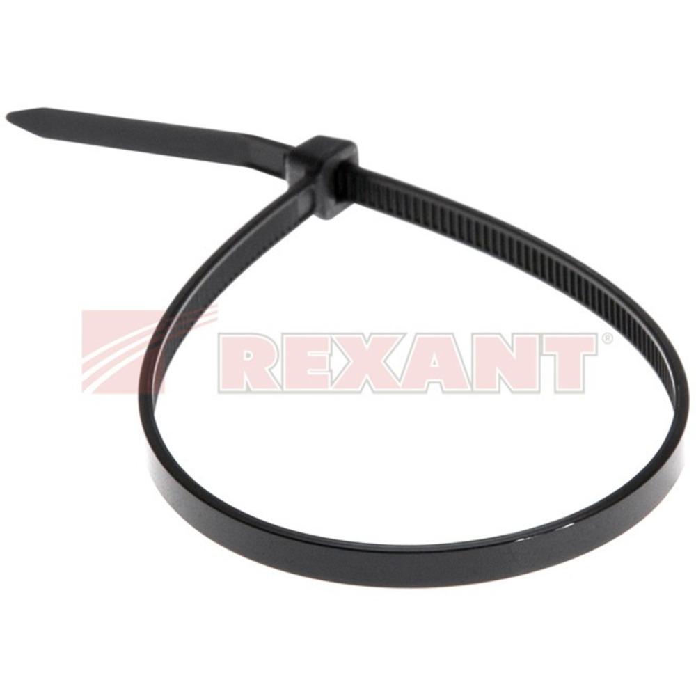 Хомут нейлоновый (кабельная стяжка) Rexant 07-0201 черный 4.0 х 200мм (100 штук)