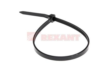 Хомут нейлоновый (кабельная стяжка) Rexant 07-0201-4 черный 3.0 х 200мм (100 штук)