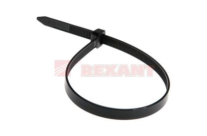 Хомут нейлоновый (кабельная стяжка) Rexant 07-0203 черный 8.0 х 200мм (100 штук)