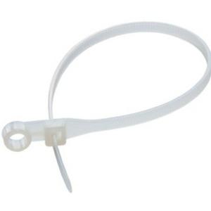 Хомут нейлоновый (кабельная стяжка) Rexant 07-0204 белый 4.8 х 200мм (100 штук)