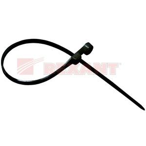 Хомут нейлоновый (кабельная стяжка) Rexant 07-0205 черный 4.8 х 200мм (100 штук)