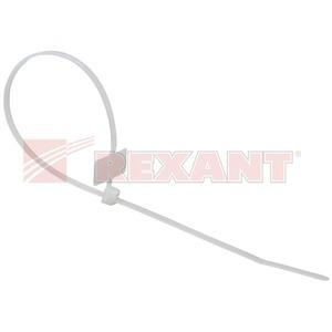 Хомут нейлоновый (кабельная стяжка) Rexant 07-0206 белый  200мм (100 штук)