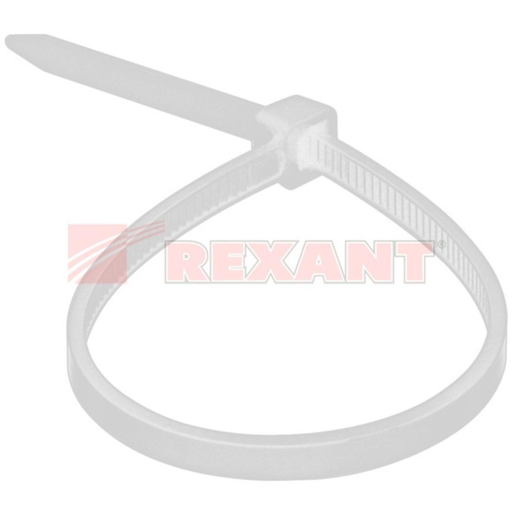 Хомут нейлоновый (кабельная стяжка) Rexant 07-0209 белый 8.0 x 200мм (100 штук)
