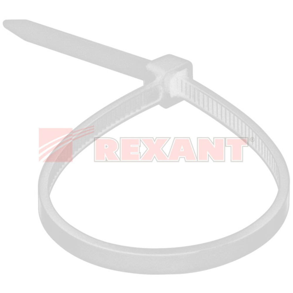 Хомут нейлоновый (кабельная стяжка) Rexant 07-0250 белый 4.0 х 250мм (100 штук)