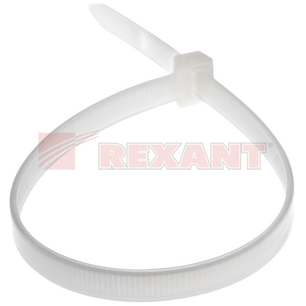 Хомут нейлоновый (кабельная стяжка) Rexant 07-0302 белый 8.0 х 300мм (100 штук)