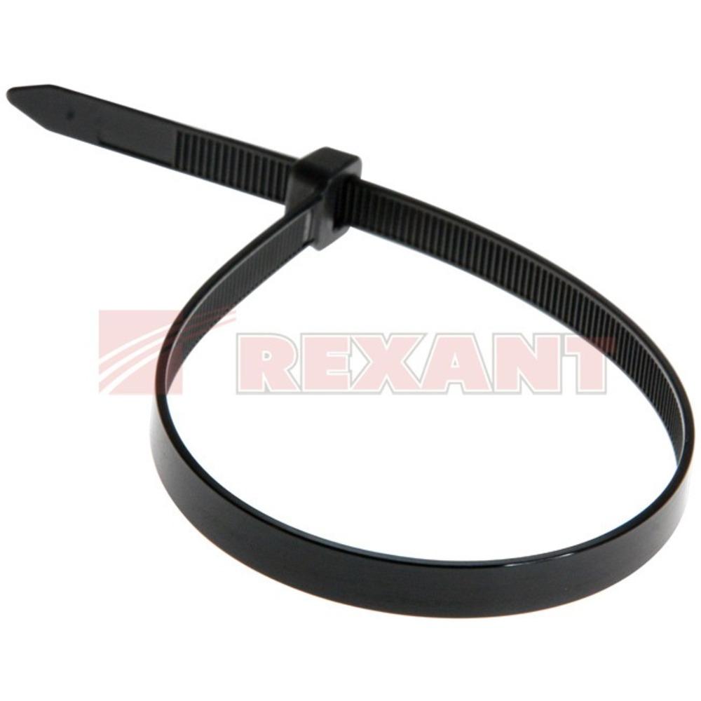 Хомут нейлоновый (кабельная стяжка) Rexant 07-0303 черный 8.0 х 300мм (100 штук)