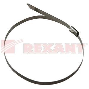 Хомут (кабельная стяжка) Rexant 07-0308 стальной 4.6 х 300мм (50 штук)