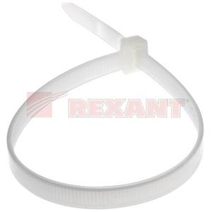 Хомут нейлоновый (кабельная стяжка) Rexant 07-0309 белый 8.0 x 300мм (100 штук)