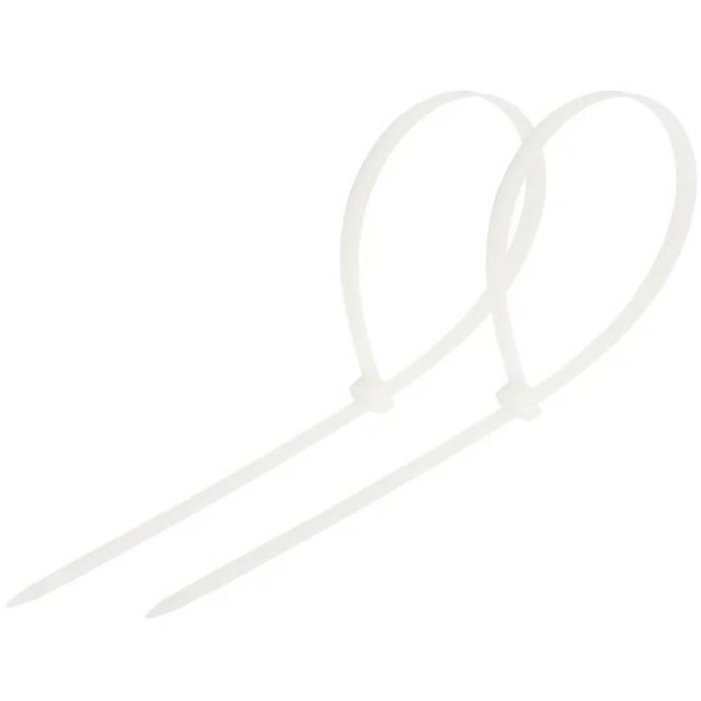 Хомут нейлоновый (кабельная стяжка) Rexant 07-0450-8 белый 8.0 х 450мм (100 штук)