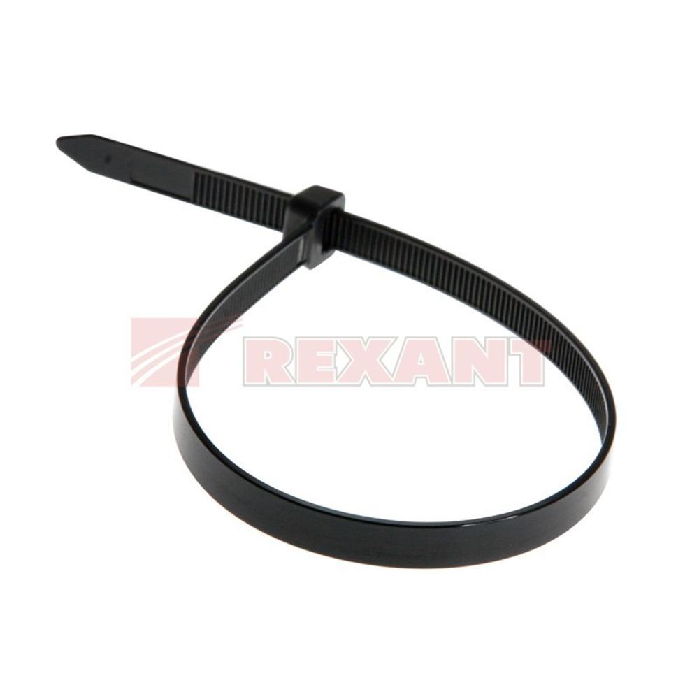 Хомут нейлоновый (кабельная стяжка) Rexant 07-0451-8 черный 8.0 х 450мм (100 штук)