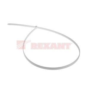 Хомут нейлоновый (кабельная стяжка) Rexant 07-0900 белый 9.0 х 900мм (100 штук)