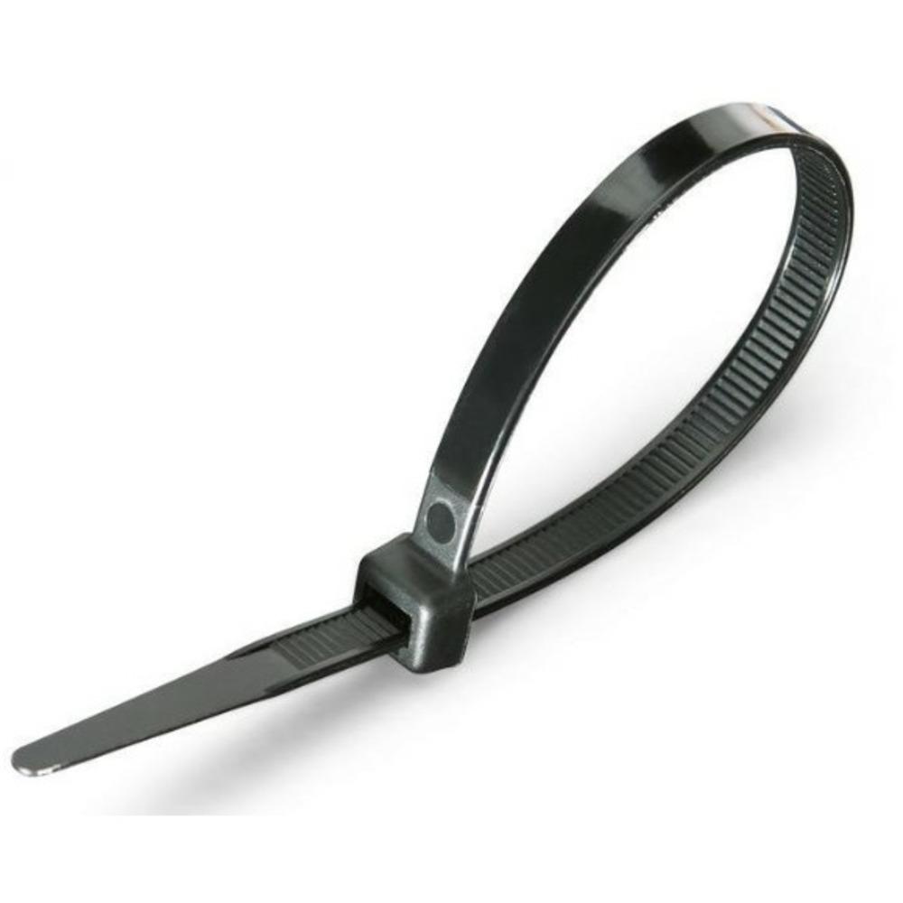 Хомут нейлоновый (кабельная стяжка) Rexant 07-1303 черный 5.0 х 300мм (100 штук)
