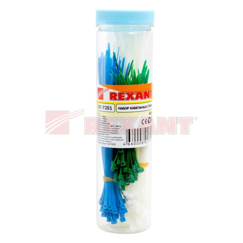 Хомут нейлоновый (кабельная стяжка) Rexant 07-7201 НХ-1 (1 набор)