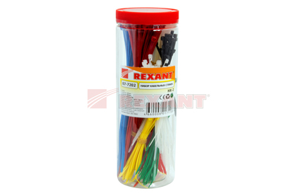 Хомут нейлоновый (кабельная стяжка) Rexant 07-7202 НХ-2 (1 набор)