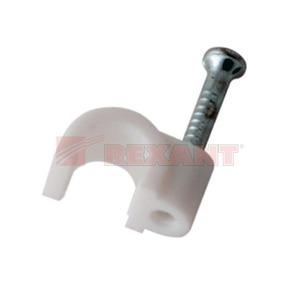 Крепеж кабеля Rexant 07-4005 Крепеж кабеля круглый 5мм (50 штук)