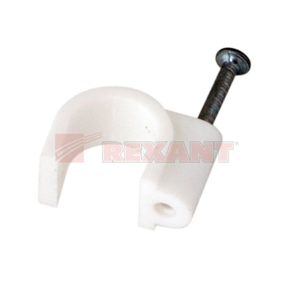 Крепеж кабеля Rexant 07-4012 Крепеж кабеля круглый 12мм (50 штук)